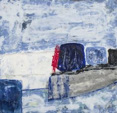 Kathleen McMahon (American, 20th Century)    Capo Auction   Lot 79   Boxes Piled in a Row. Encaustic on board, 2007. Signed (l.r.). Sight size 12 x 12 inches. Unframed. Provenance: Purchased from the artist, 2007.