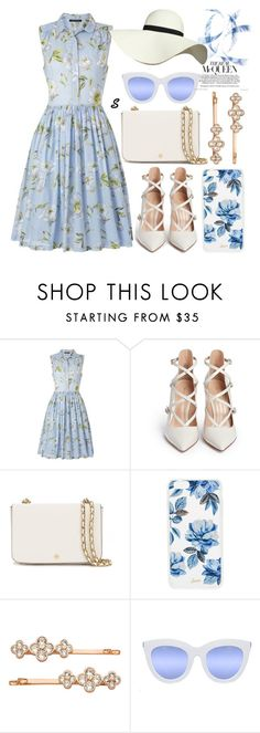 """""""Без названия #869"""" by sabina-127 ❤ liked on Polyvore featuring French Connection, Gianvito Rossi, Tory Burch, Sonix, Henri Bendel, Quay and Pilot"""