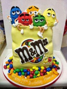 CUTE M & M's cake ... Yummy.