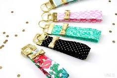 Kate Spade Inspired  Key Fob Tutorial