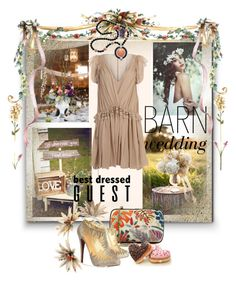 """""""Best Dressed Guest: Barn Weddings"""" by kari-c ❤ liked on Polyvore featuring Tory Burch, Christian Louboutin, Rosantica, Chloé, Kenneth Jay Lane, bestdressedguest and barnwedding"""
