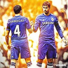Premier League top assists Cesc Fàbregas (7) and top scorer Diego Costa (9)! #Chelsea