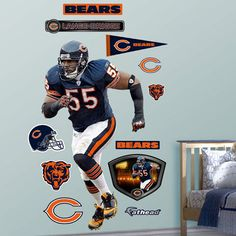 Fathead Chicago Bears Lance Briggs Wall Graphic - Wall Sticker Outlet