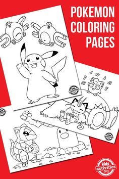 Free Pokemon Coloring Pages | color your favorite characters | printable kids activities