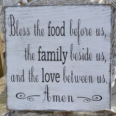 Shop Bless The Food Before Us Sign on Wanelo
