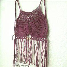 Summer is in the air...  #bettyloops #customcrochet #crochetaddict #etsy #etsyshop #supportsmallbusiness #shopsmall #etsyusa #fringetop #croptop #summer2015 #handmade COLOR is Cotton Gin