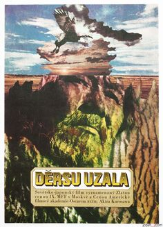 Excellent abstract poster designed by #ZdeněkZiegler for Akira Kurosawa's Oscar winning film Dersu Uzala, 1976. #MoviePoster #Poster #AkiraKurosawa #VintagePoster #PosterShop