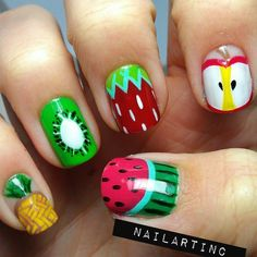 Fruit Nails by Instagrammer @nailartinc