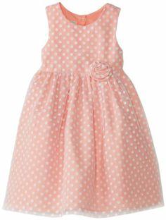 Marmellata Girls 2-6X Dress with White Flocked Dot Overlay, Coral, 4T Marmellata,http://www.amazon.com/dp/B00GYRFHEW/ref=cm_sw_r_pi_dp_kJaetb0ZM6A9ZYEG