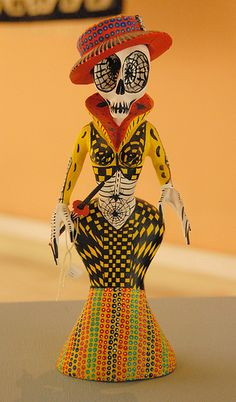Yellow Catrina Oaxaca Mexico by Teyacapan