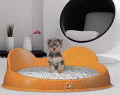 Designer dog bed for YorkshireTerrier and small by DDplusdesignpet