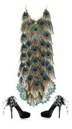 peacock dress awesome