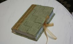 Burlap Book Cover- looks cuter w/ pic larger