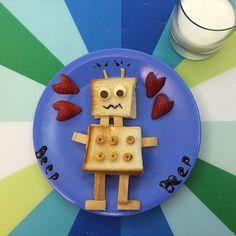 robot sandwich for breakfast, kids food