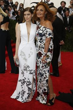 Met Gala 2015: Kate Mara and Diane Von Furstenberg
