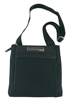 b9a5c7e3088 Calvin Klein Logo Jacquard Sport Crossbody Black -- Learn more by visiting  the image link.