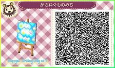 Blue Sky Stary Night ACNL QR Code (Single tile no others ) That I know of.. lol