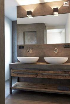 MOLITLI badkamer - Hoe mooi is deze combinatie van pure materialen gelukt!