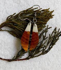 Wood Resin, High Gloss, Crochet Earrings, Stainless Steel, Drop Earrings, Handmade, Etsy, Wood Earrings, Ear Earrings