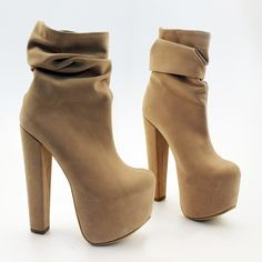 126563e4ba7 Cream Suede Platform Booties – Tajna Club Shoes Heels Boots