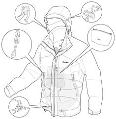 Flat Drawings, Flat Sketches, Technical Drawings, Fashion Design Template, Fashion Design Sketches, Sketching Techniques, 3d Animation, Animation Stop Motion, Clothing Sketches
