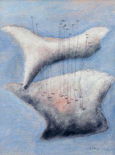 Josef Šíma: Bílá variace na modré / 1947 kombinovaná technika na kartonu / 32 x 24,5 cm cena: 876 000 Kč / European Arts 23. 11. 2014 Argos, Abstract, Artwork, Marseille, Summary, Work Of Art, Auguste Rodin Artwork, Artworks, Argo