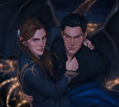 Absolutely hate how Feyre is drawn like a man, but Rhys looks great.