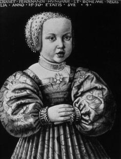 Elisabeth of Austria (1526-1545), daughter of Ferdinand I of Austria and his wife Anna of Bohemia and Hungary. She was married to Zygmunt II August Jagiellon and they had no children.