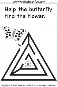 Beginner Maze – Preschool and Kindergarten – One Worksheet
