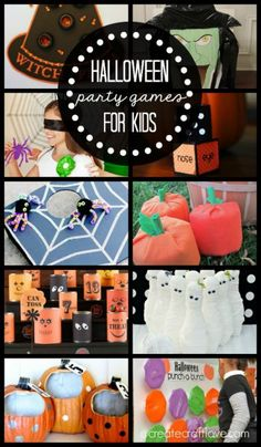 Create your own memories with these fun Halloween Party Games for Kids! Halloween Party Supplies, Halloween Party Games, Kids Party Games, Halloween Birthday, Halloween Activities, Holidays Halloween, Halloween Kids, Games For Kids, Halloween Crafts