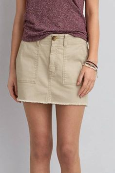 AEO Surplus Mini Skirt  by AEO | At ease. An effortless skirt perfect for pairing with your favorite T's and tanks.  Shop the AEO Surplus Mini Skirt  and check out more at AE.com.