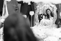 Bride and groom look at each other into a mirror during Persian Ceremony and Wedding Reception at Fort Worth Club. This is a traditional request in Persian - Iranian culture.
