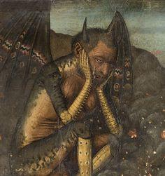 """""""Descenso de Cristo al Limbo"""" (detalle). Por Bartolomé Bermejo, circa 1475. http://iglesiadesatan.com/"""