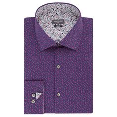 Featuring an expandable collar and checked pattern, this men's Van Heusen checked dress shirt keeps you feeling and looking great at the office or on the weekend. Homecoming Outfits For Guys, Collar Dress, Shirt Dress, Blue Hawaii, Buy Vans, Tie Knots, Cuff Sleeves, Dress Patterns, Stretch Fabric