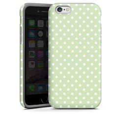 Polka Dots - gruen und weiß für Tough Case (black) für Apple iPhone 6 von DeinDesign™