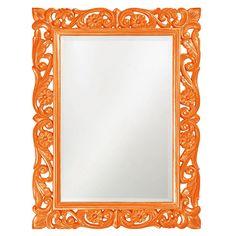 """Howard Elliott Chateau Orange Mirror 31.1/2"""" x 42"""" x 1.3/4"""""""