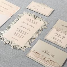Urban Laser Cut Frame II - Wedding Invitations