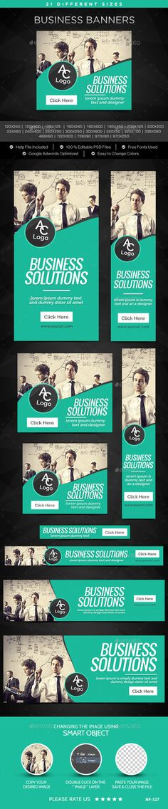 Business Banners Template #design Download: http://graphicriver.net/item/business-banners/12225025?ref=ksioks