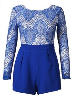 Sheridyn Blue Playsuit