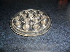 antique depression glass clear | Details about Vintage Clear Depression Glass Flat Flower Frog 16 Hole