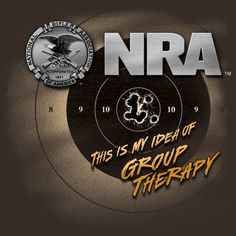 New NRA Shirt GROUP THERAPY -AWESOME - OFFICIALLY LICENSED NRA SHIRT