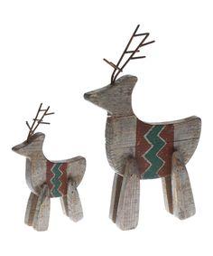 Loving this Reindeer Figurine Set on #zulily! #zulilyfinds