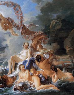The Triumph of Venus [detail] by Francois Boucher, Oil on canvas