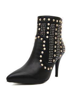 HIGH HEEL studded boot