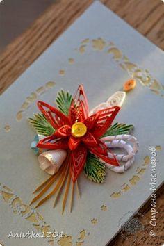 Открытка Рождество Квиллинг Рождественские открыточки Бумага фото 6