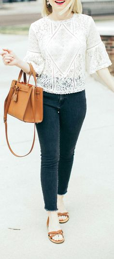 White Sheer Lace Blouse with Coordinating Bralette - Poor Little It Girl