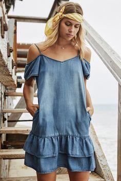 4473b873b51b Felice Dress  denim  dress  coldshoulder  beach  beachhouse  lifestyle   musthave