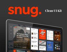 Snug. UI Kit — convenient, versatile assistant for creating a modern blog, magazine or news portal.