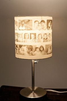 Share Photos with a Photo Lampshade —  Maybe something to make for Nancy...  @jeannieke   What do you think?