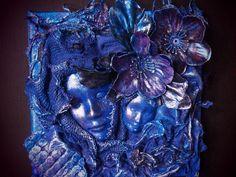 Blue mask Blue Mask, Faeries, Attitude, Sculptures, Masks, Ruffle Blouse, Wall Art, Women, Fairies